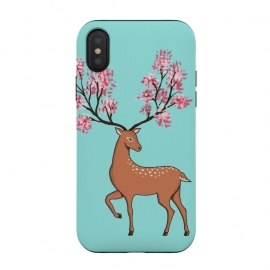 Natural Deer by Coffee Man (floral, natural, animal, animals, deer, flowers, cute, adorable, girl, forest, pet, pet lover, wild)