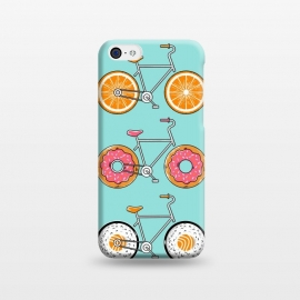 iPhone 5C  Food Bicycle by Coffee Man (bike, bicycle, sport, ride, velocity, food, sushi, orange, donut, fun, funny, cute, adorable, kid, kids, children)