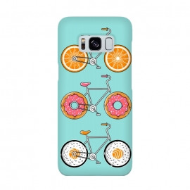 Food Bicycle by Coffee Man (bike, bicycle, sport, ride, velocity, food, sushi, orange, donut, fun, funny, cute, adorable, kid, kids, children)