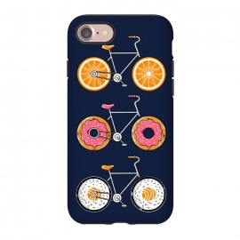 iPhone 8/7  Food Bicycle 2 by Coffee Man (bike, bicycle, bicy, sport, ride, velocity, food, sushi, orange, donut, cute, adorable, fun, funny, humor, kid, kids,children)