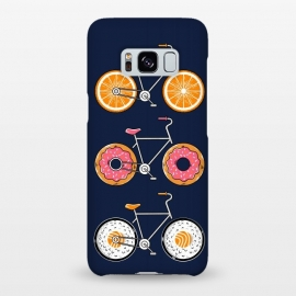 Galaxy S8+  Food Bicycle 2 by Coffee Man (bike, bicycle, bicy, sport, ride, velocity, food, sushi, orange, donut, cute, adorable, fun, funny, humor, kid, kids,children)