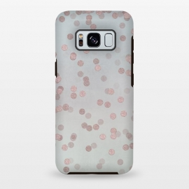 Galaxy S8+  Rose Gold Glitter Dots by Andrea Haase