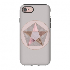 iPhone 8/7  Glamorous Rose Gold Pentagon by Andrea Haase