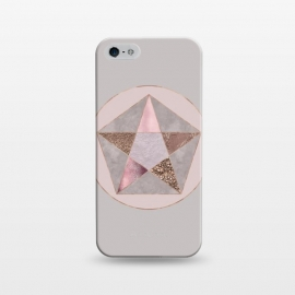 iPhone 5/5E/5s  Glamorous Rose Gold Pentagon by Andrea Haase