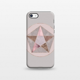 iPhone 5C  Glamorous Rose Gold Pentagon by Andrea Haase