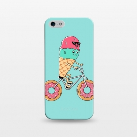 iPhone 5/5E/5s  Donut Bicycle by Coffee Man (bicycle,biker,bicy,rider,donut,ice cream,travel,summer,vacation, cute, adorable, fun, funny,adventure,kawaii)