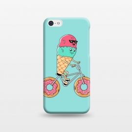 iPhone 5C  Donut Bicycle by Coffee Man (bicycle,biker,bicy,rider,donut,ice cream,travel,summer,vacation, cute, adorable, fun, funny,adventure,kawaii)