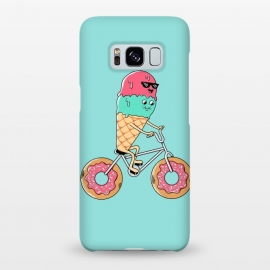 Galaxy S8+  Donut Bicycle by Coffee Man (bicycle,biker,bicy,rider,donut,ice cream,travel,summer,vacation, cute, adorable, fun, funny,adventure,kawaii)