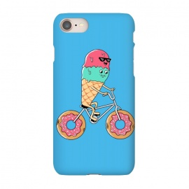 iPhone 8/7  Donut Bicycle Blue by Coffee Man