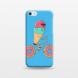 iPhone 5C  Donut Bicycle Blue by Coffee Man