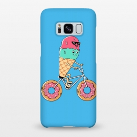 Galaxy S8+  Donut Bicycle Blue by Coffee Man (biker, bicycle,bicy, donut, donuts, ice cream, summer, spring break, fun, funny, humor, cute, adorable,kawaii,sweet,kid,kids)