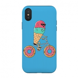 iPhone Xs / X  Donut Bicycle Blue by Coffee Man