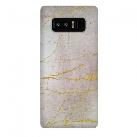 Galaxy Note 8  Rose Gold Glamour Marble by Andrea Haase
