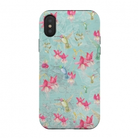 iPhone Xs / X  Hummingbirds and Fuchsia by