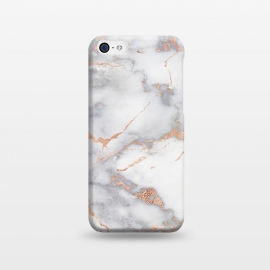 iPhone 5C  Rose Gold and Marble by Utart