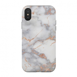 iPhone Xs / X  Rose Gold and Marble by Utart (Glitter, Stylish, Ombre, Girly, Marble, Marbled, Nature, Texture,  Geode ,Terrazzo,  Metallic, Scandi, Bohemian, Boho, Scandinavian, stone, crystal, quartz, gemstone, gem, granite,  shimmer, shimmery, shiny ,metallic,  trendy, simply, simple, glitter, chrystal ,ink, malachite, agate,rose gold,rosego)