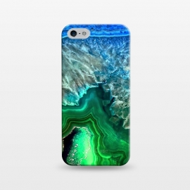 iPhone 5/5E/5s  Blue and Green Agate  by Utart