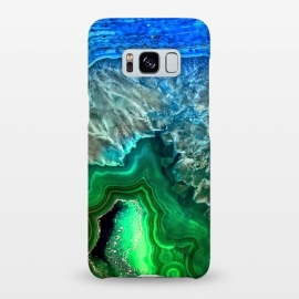 Galaxy S8+  Blue and Green Agate  by Utart