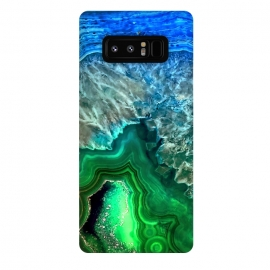 Galaxy Note 8  Blue and Green Agate  by