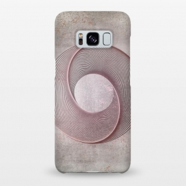 Galaxy S8+  Rose Gold Line Art Circle   by Andrea Haase