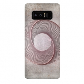 Galaxy Note 8  Rose Gold Line Art Circle   by Andrea Haase