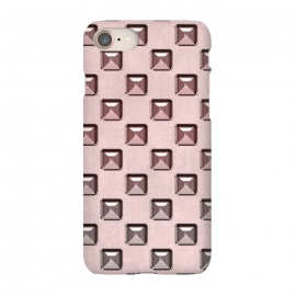 iPhone 8/7  Soft Pink Shiny Gemstones by Andrea Haase