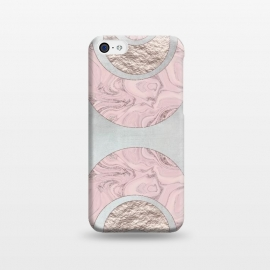 iPhone 5C  Marble Rose Gold Half Moon by Andrea Haase