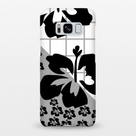 Galaxy S8+  FLORAL PATTERN WITH CHECKS by MALLIKA