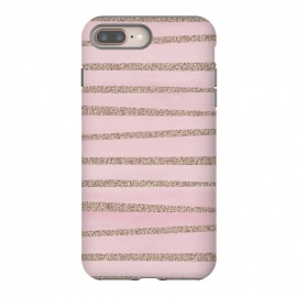 Rose Gold Glitter Stripes by Andrea Haase