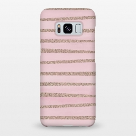 Galaxy S8+  Rose Gold Glitter Stripes by Andrea Haase