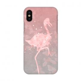 iPhone X  Flamingo Watercolor Art by Andrea Haase