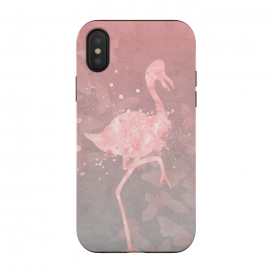 iPhone Xs / X  Flamingo Watercolor Art by Andrea Haase
