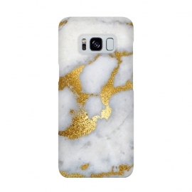 Marble with Gold Metal Foil Veins by Utart