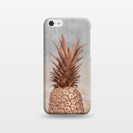 iPhone 5C  Rose Gold Pineapple and Marble by Utart