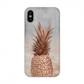 iPhone X  Rose Gold Pineapple and Marble by Utart