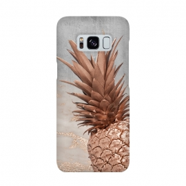 Rose Gold Pineapple on Congrete by Utart
