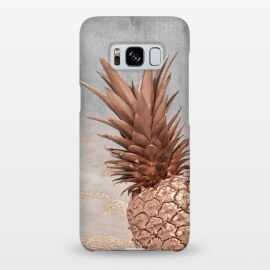Galaxy S8+  Rose Gold Pineapple on Congrete by Utart