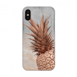 iPhone X  Rose Gold Pineapple on Congrete by Utart