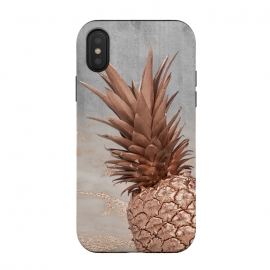 iPhone Xs / X  Rose Gold Pineapple on Congrete by Utart