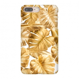 Gold Metal Foil Monstera Leaves Pattern by Utart