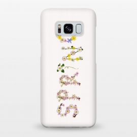 Galaxy S8+  Spring - Flower Typography  by Utart