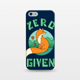 iPhone 5/5E/5s  Zero Fox Given 2 by  (fox, animal, animals, pet, pets, landscape,nature,outdoor,fun, funny, humor, cute, adorable,lettering)