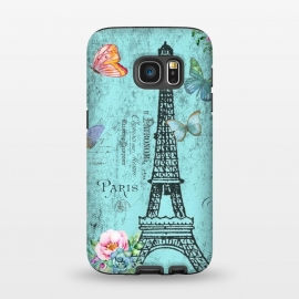 Galaxy S7  Blue Eiffel Tower Paris Watercolor Illustration by Utart