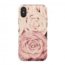 iPhone Xs / X  Pink Vintage Roses by Utart (blossom, spring, flower, pink, nature, season, floral, petal, beautiful, bloom, flora, blooming, natural, beauty, botany, summer, springtime, botanical, romantic, vintage,flowers,rose,roses,photography,valentine,retro,photo)
