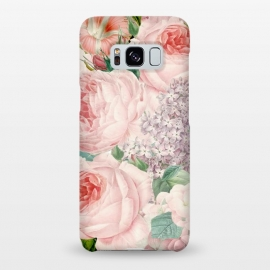 Galaxy S8+  Pink Retro Watercolor Roses by Utart