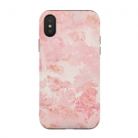 iPhone Xs / X  Vintage Roses in Pink - Pattern by Utart