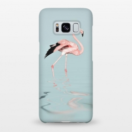 Galaxy S8+  Flamingo On Turquoise Waters by Andrea Haase