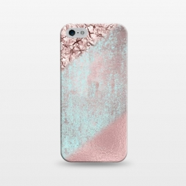 iPhone 5/5E/5s  Rose Gold Shimmering Foil  by Andrea Haase