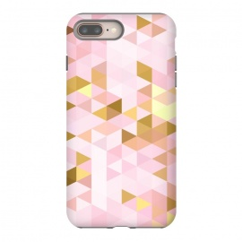 iPhone 8/7 plus  Pink and Rose Gold Marble Triangle Pattern by Utart