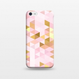 iPhone 5C  Pink and Rose Gold Marble Triangle Pattern by Utart
